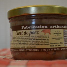 Civet de Porc (470 ml / 400 g)